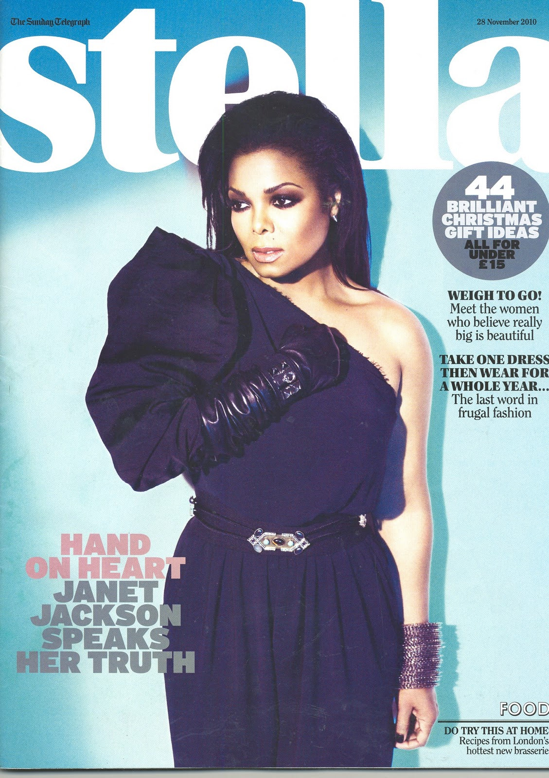 UK Stella Magazine November 2010: Janet Jackson Cover Exclusive