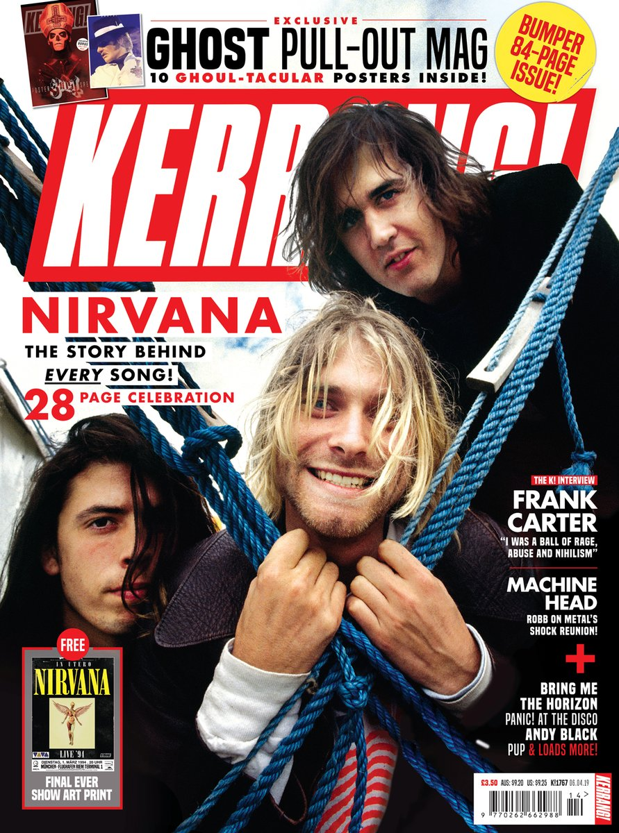 UK Kerrang! Magazine May 2019: Nirvana - 28 Page Celebration Issue