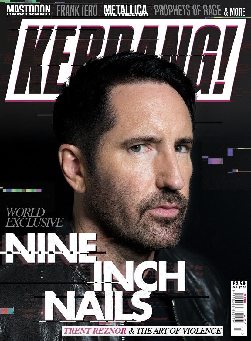 Trent Reznor of Nine Inch Nails on the cover of Kerrang Magazine