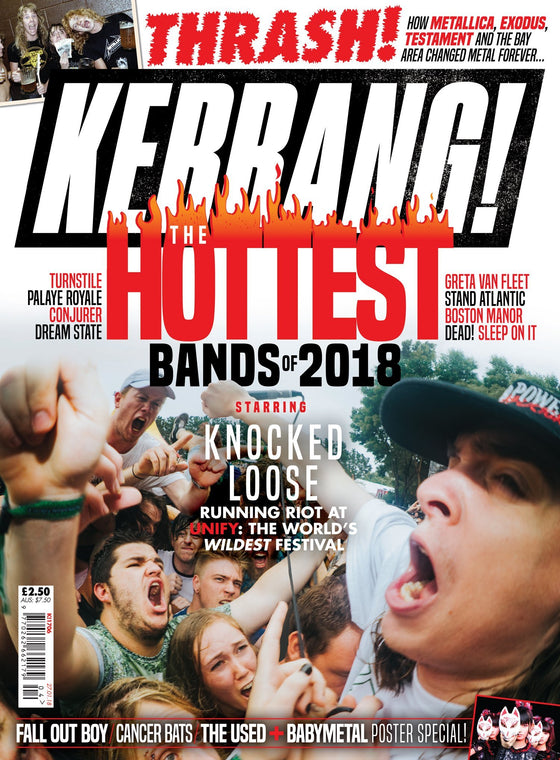 Kerrang! Magazine Jan 2018 BABYMETAL POSTERS Fall Out Boy CANCER BATS The Used