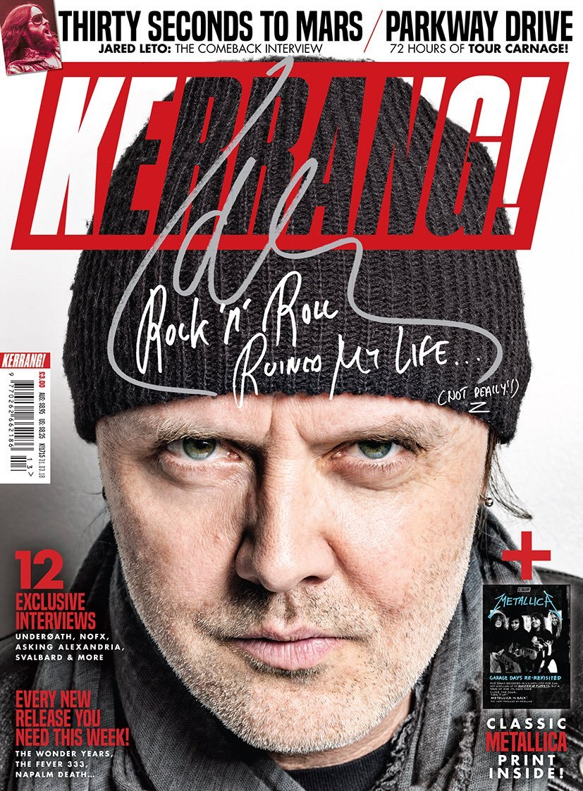 Kerrang! Magazine 31st March 2018 Lars Ulrich Metallica Jared Leto Thirty Seconds To Mars