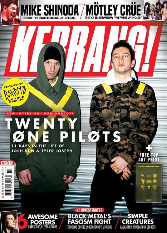 KERRANG! magazine March 2019: Twenty One Pilots + Bandito art print Mike Shinoda