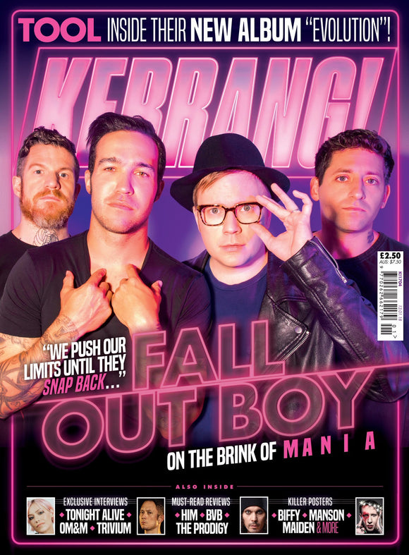 KERRANG magazine 13 January 2018 FALL OUT BOY Ville Valo MARILYN MANSON Tool