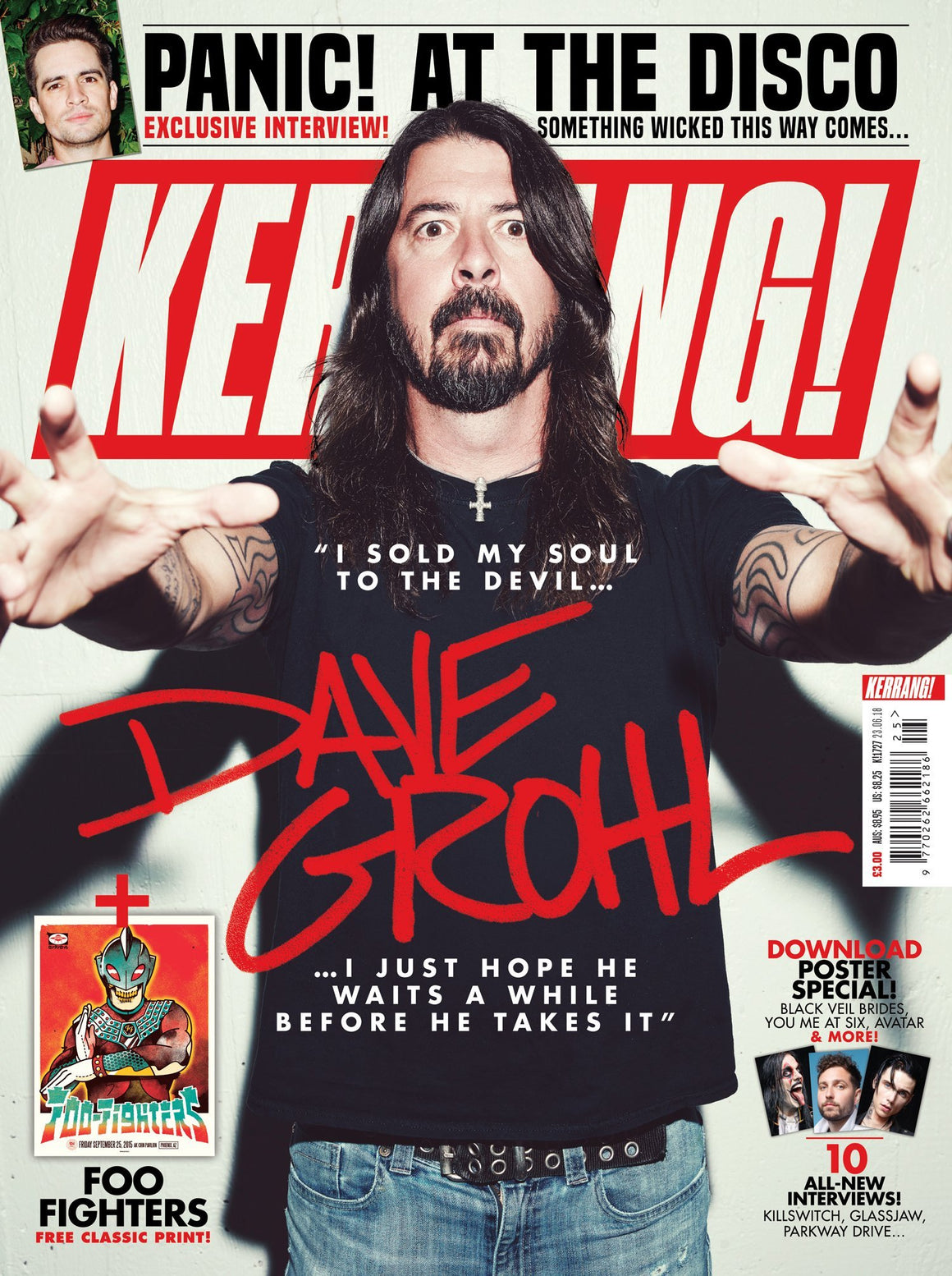 British Kerrang! Magazine June 2018 Dave Grohl The Foo Fighters Cover