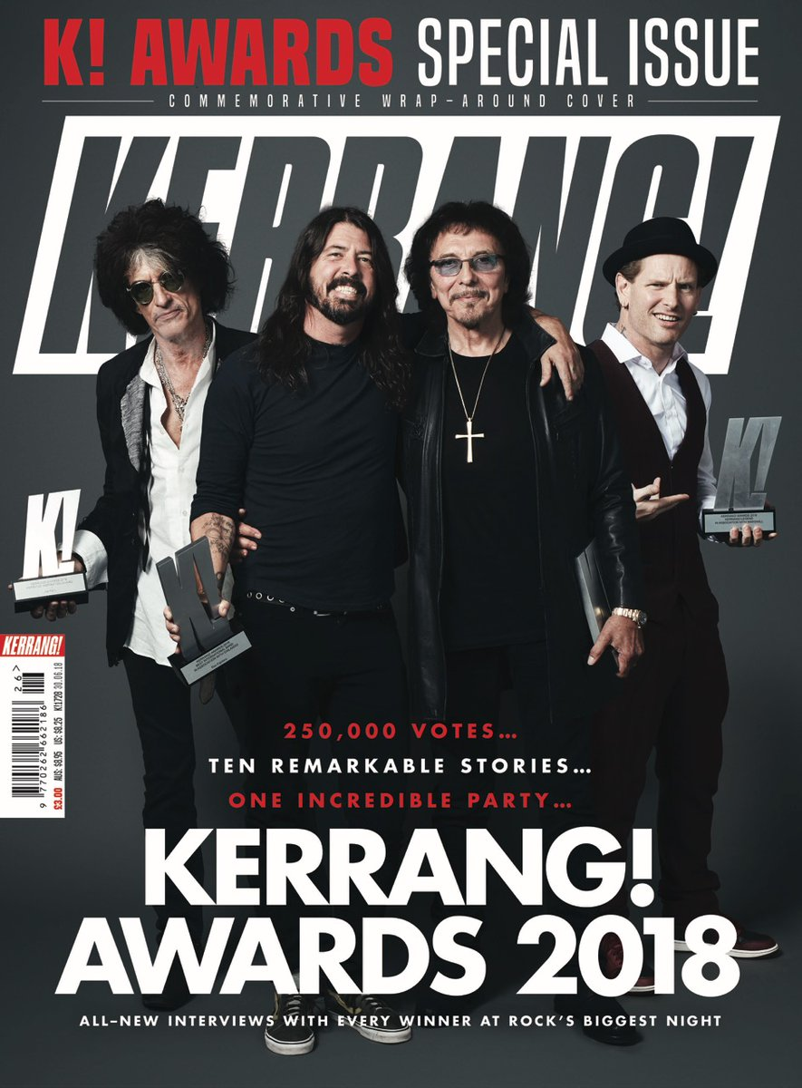 UK Kerrang! Magazine June 2018: DAVE GROHL Tony Iommi JOE PERRY Biffy Clyro