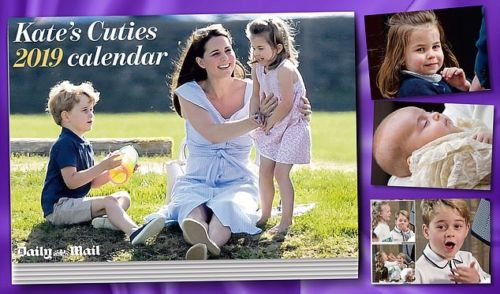 Kate's Cuties 2019 calendar (Kate Middleton, Prince George, Louis)