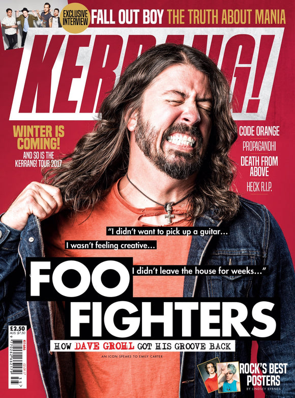 Kerrang! Magazine September 2 2017 Dave Grohl Foo Fighters Fall Out Boy
