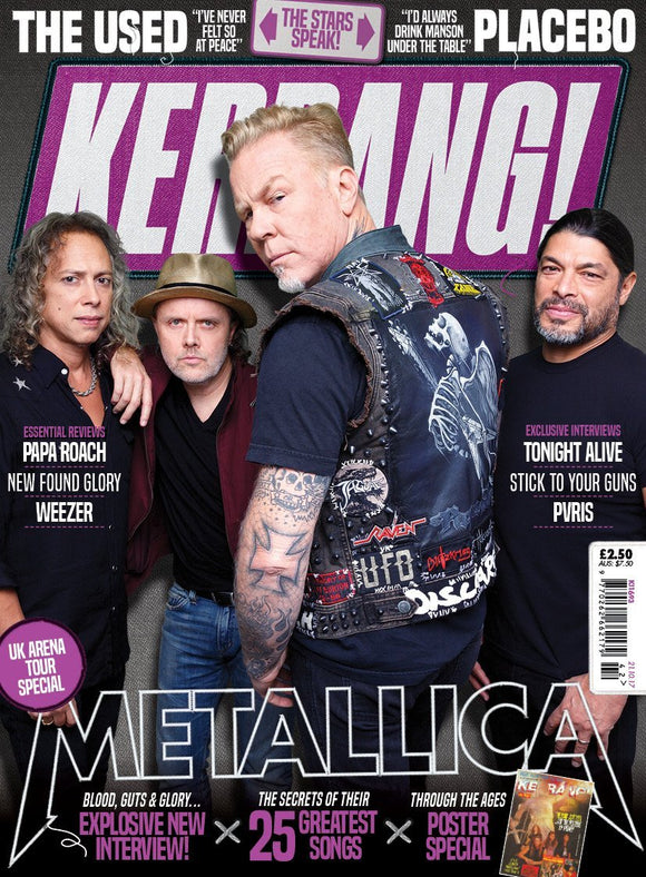 Metallica on the cover of Kerrang!