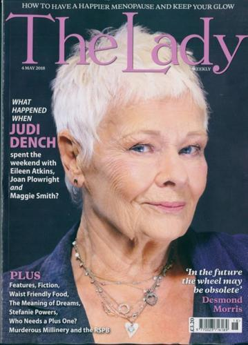 THE LADY magazine May 2018 Judi Dench Photo Cover Interview // Maggie Smith