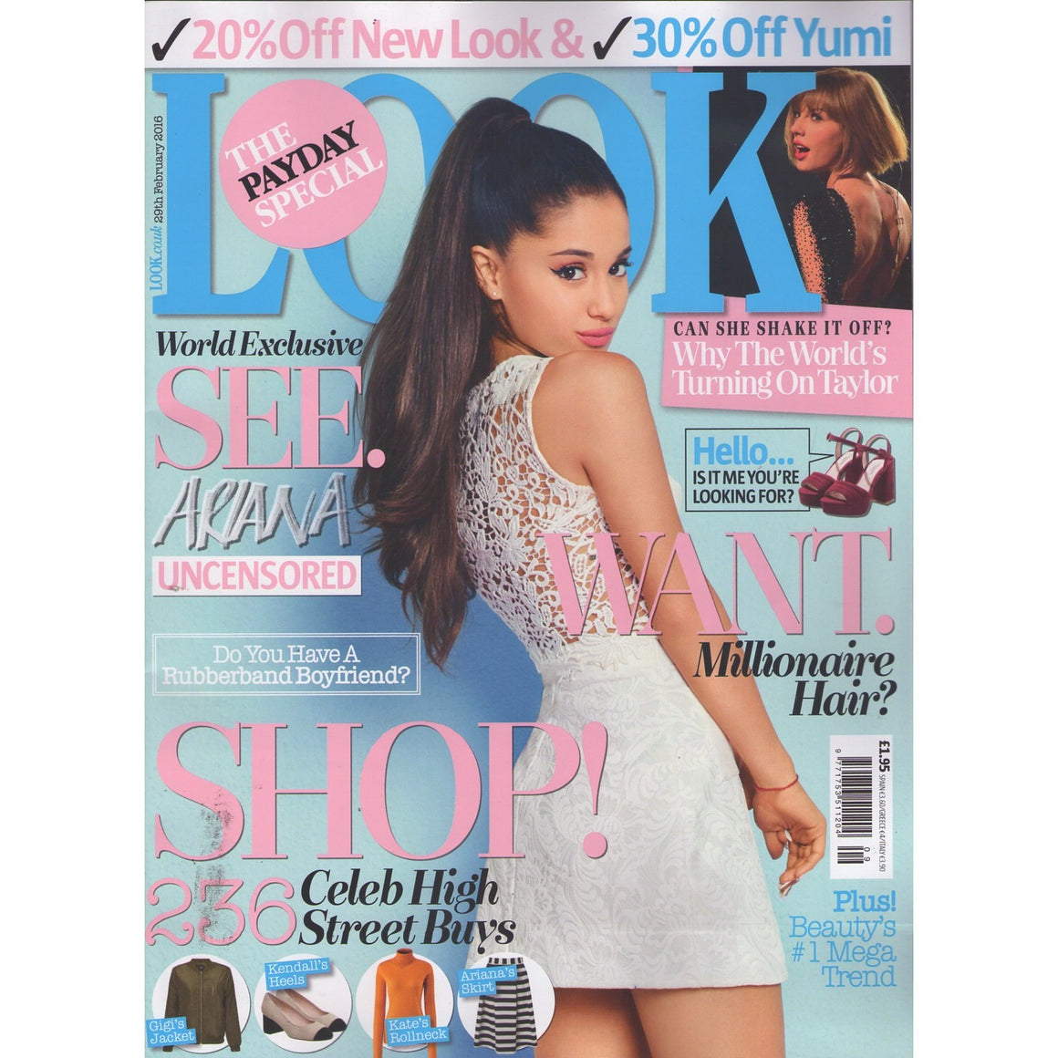 UK Look Magazine 29 February 2016 Ariana Grande World Exclusive Taylor Swift