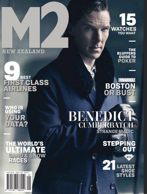 M2 New Zealand Magazine 2018 Benedict Cumberbatch Cover Interview