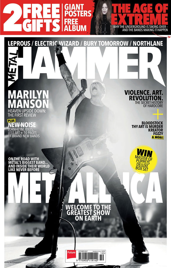 Metallica are back on the cover of Metal Hammer Magazine