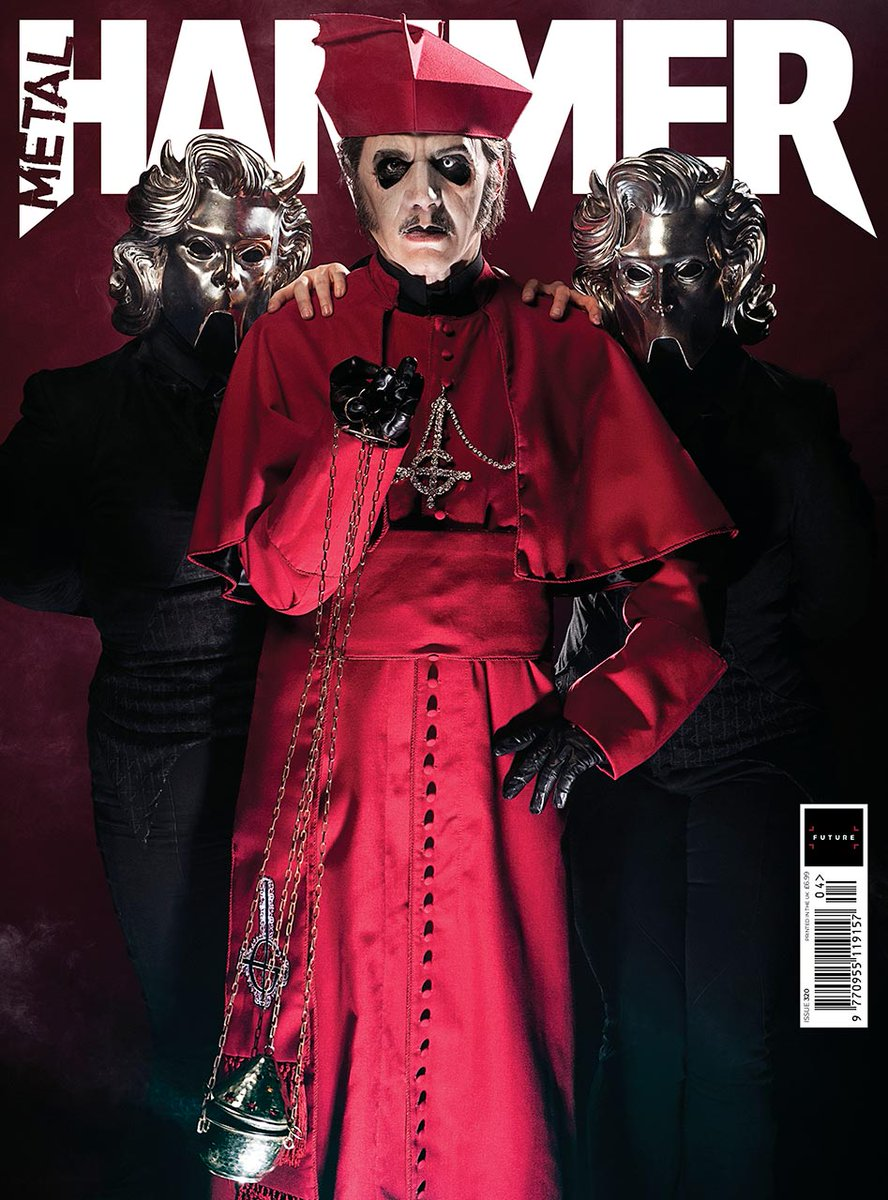 UK Metal Hammer Magazine #320 April 2019 - Ghost - Tobias Forge Cover #2
