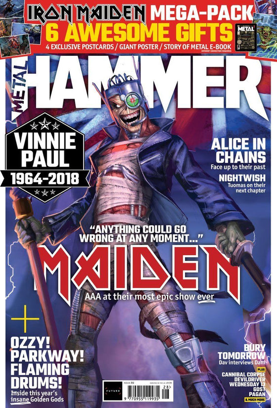 UK Metal Hammer SUMMER 2018: IRON MAIDEN LEGACY OF THE BEAST TOUR EDITION & Postcards & Poster