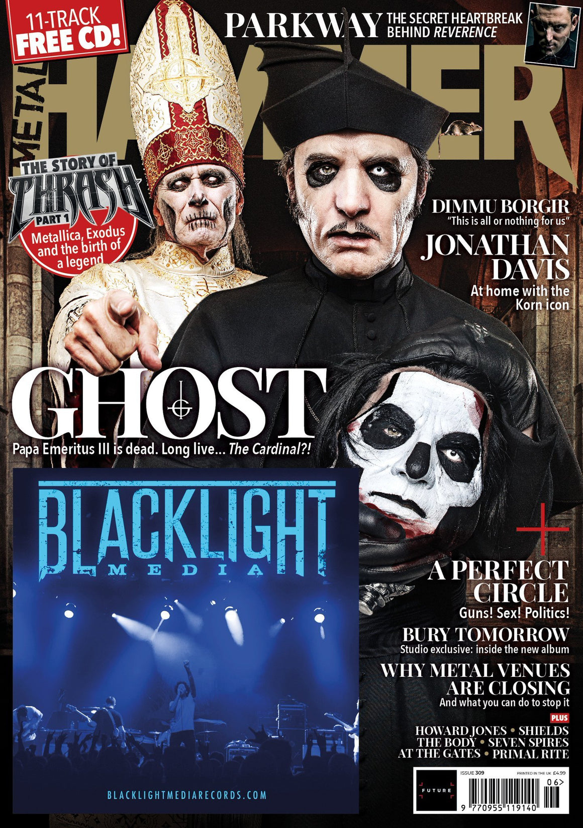 UK Metal Hammer Magazine JUNE 2018 GHOST - COVER STORY