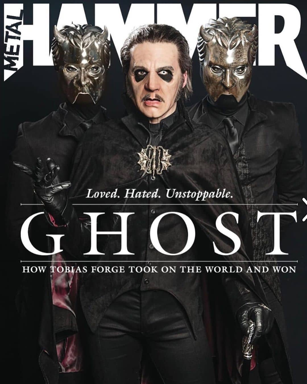 UK Metal Hammer Magazine #320 April 2019 - Ghost - Tobias Forge Cover #1