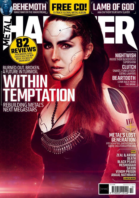 UK Metal Hammer OCTOBER 2018: WITHIN TEMPTATION COVER STORY EXCLUSIVE