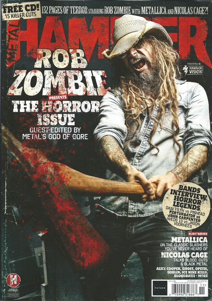 UK METAL HAMMER magazine November 2018 Rob Zombie Guest Edits - Metallica Ghost