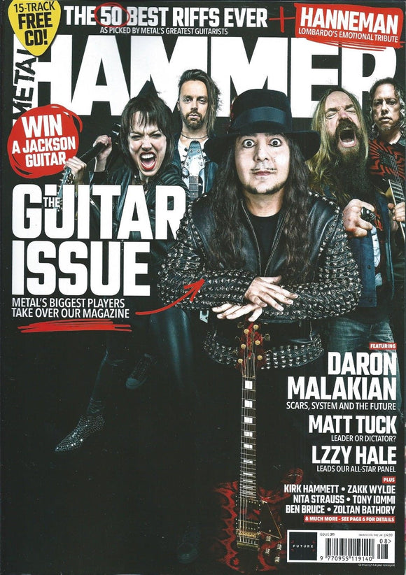 UK Metal Hammer AUG 2018: SYSTEM OF A DOWN Bong Slayer BFMV Metallica STEVE VAI