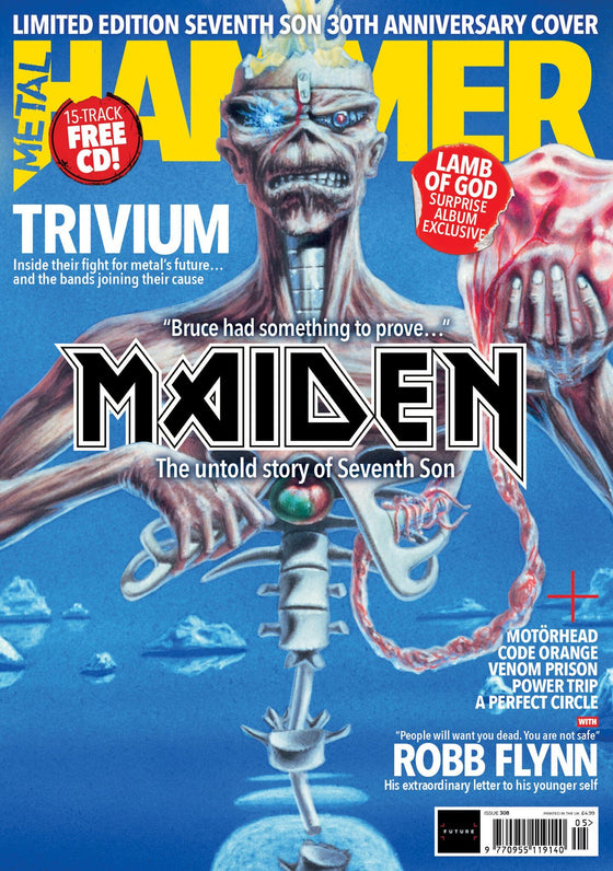 UK Metal Hammer Magazine MAY 2018: IRON MAIDEN Seventh Son LTD EDITION COVER