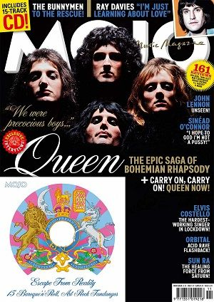 Mojo Magazine 324 November 2020 Queen Freddie Mercury Adam Lambert & Free CD