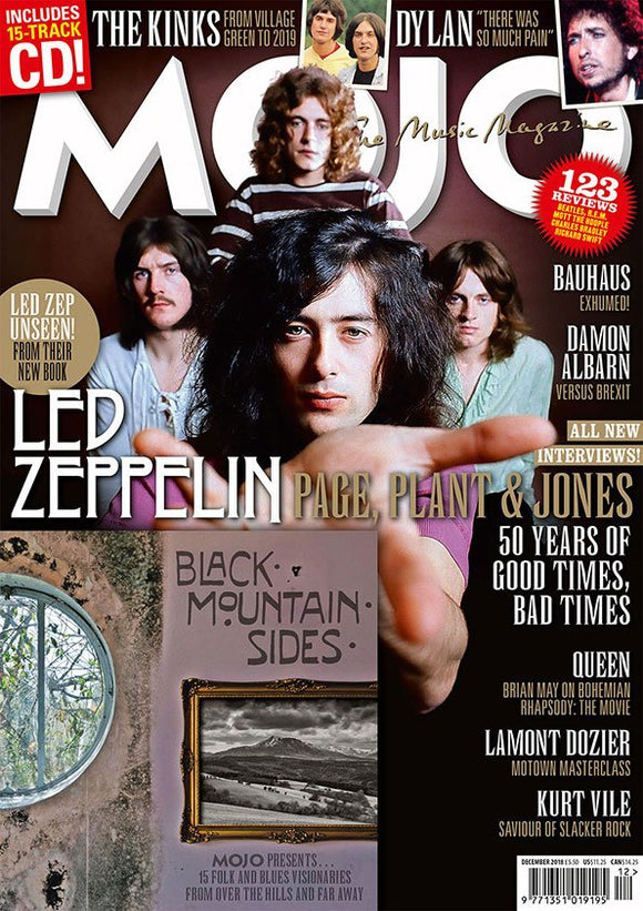 UK Mojo Magazine December 2018 Led Zeppelin Robert Plant Jimmy Page + Free CD