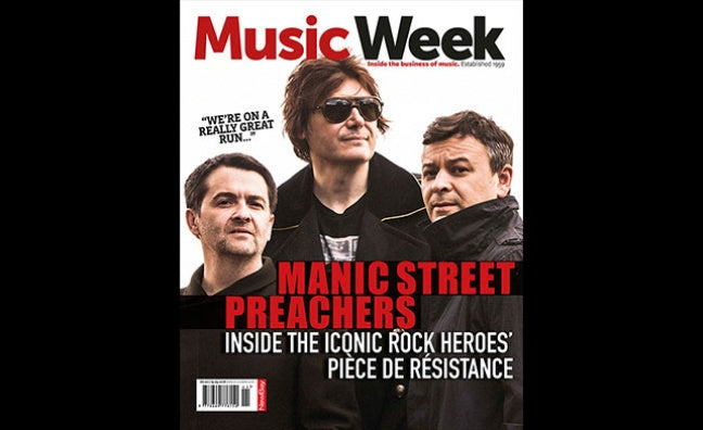 UK MUSIC WEEK Magazine March 2018 MANIC STREET PREACHERS COVER STORY INTERVIEW