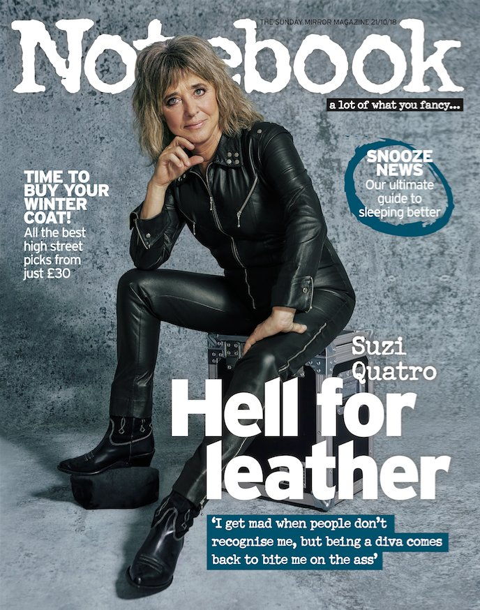 UK Notebook Magazine October 2018: SUZI QUATRO Cover Interview - Josh Groban