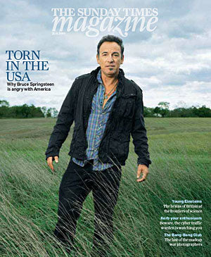 Sunday Times Magazine 2010 Bruce Springsteen Cover