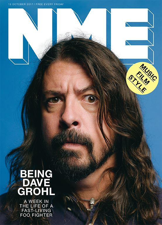 Dave Grohl Foo Fighters on the cover of NME Magazine October 2017