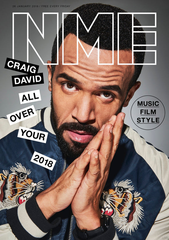 UK NME Magazine JANUARY 2018: CRAIG DAVID COVER & FEATURE