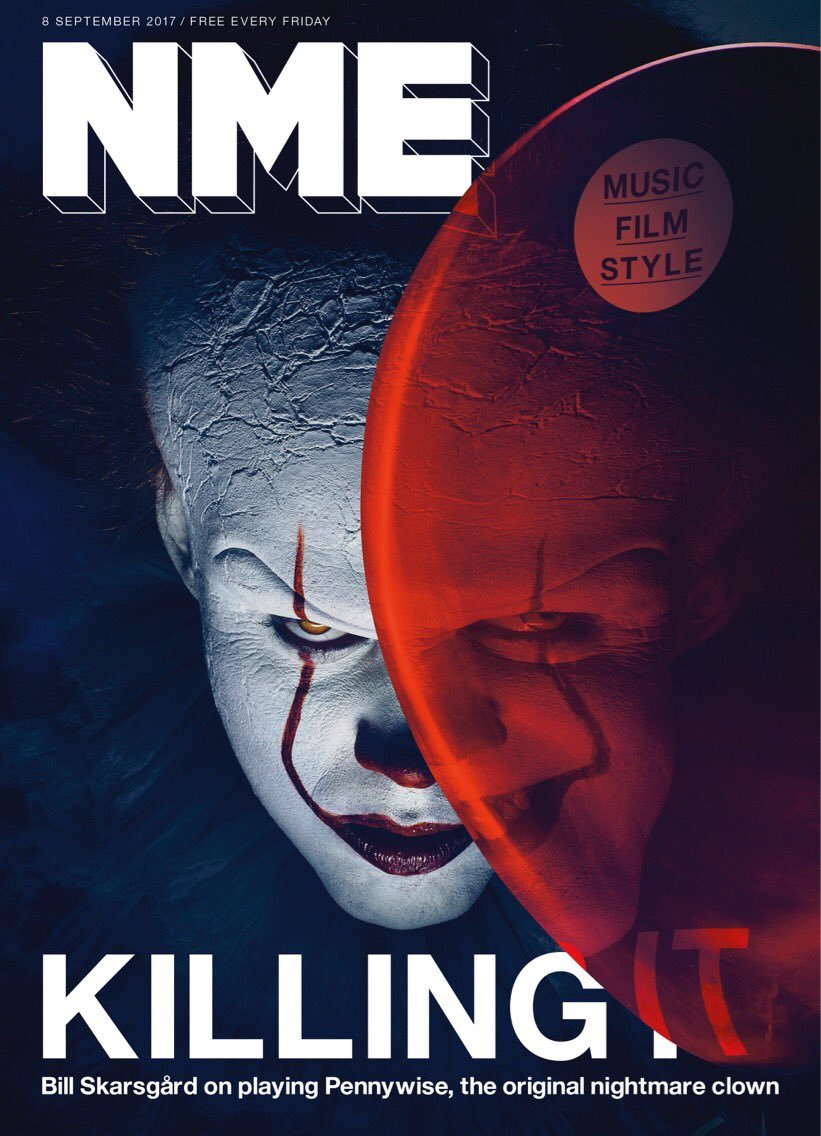 NME Magazine September 2017 Bill Skarsgård Stephen King The IT Movie