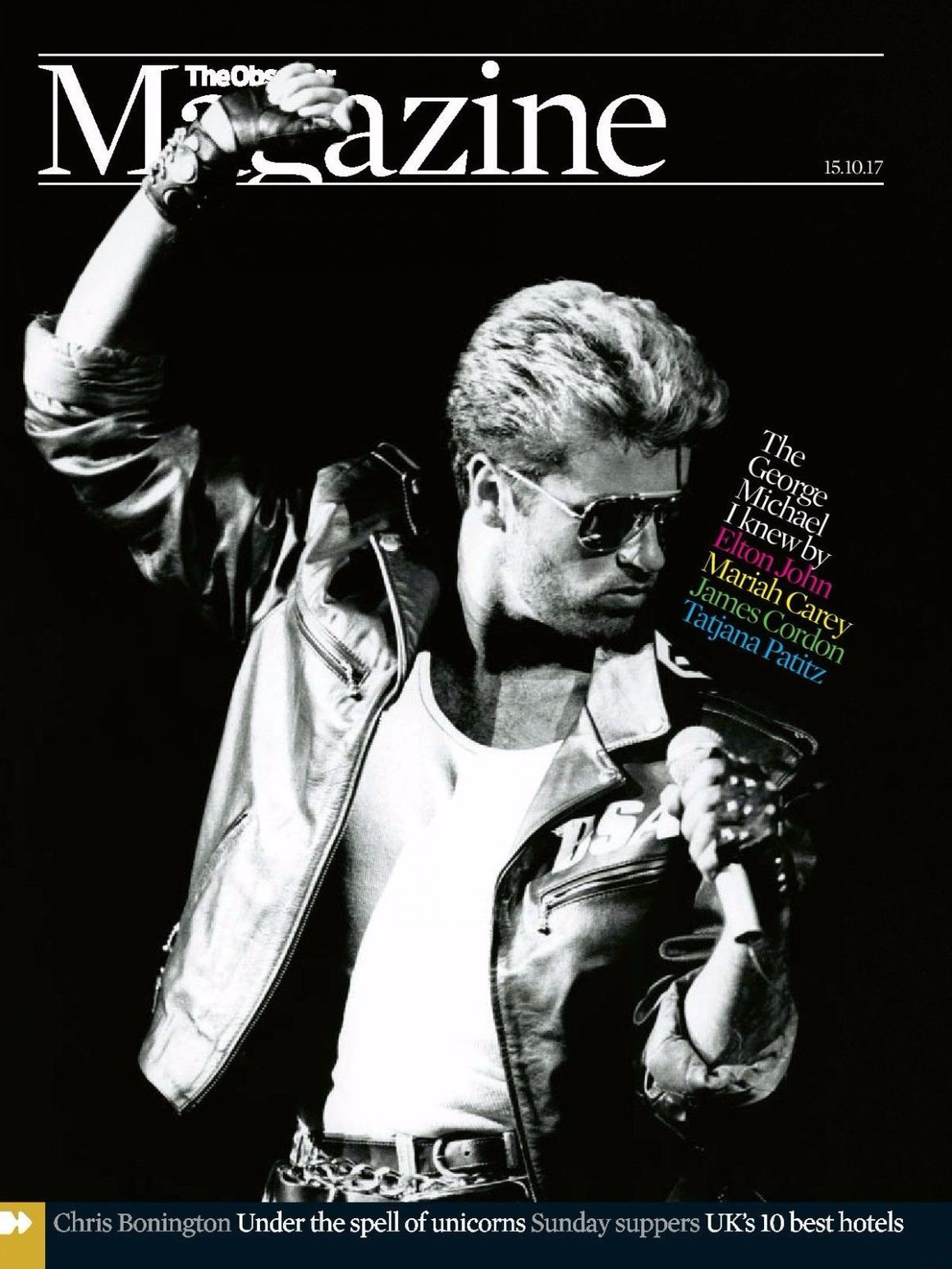 UK Observer Magazine October 2017 The George Michael I Knew Cover Story Special