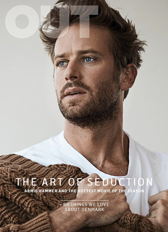 Out Magazine Armie Hammer cover