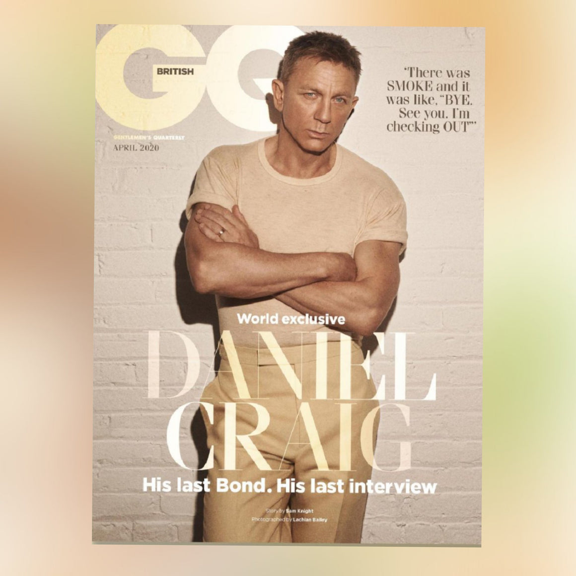 BRITISH GQ MAGAZINE APRIL 2020: DANIEL CRAIG - JAMES BOND NO TIME TO DIE COVER
