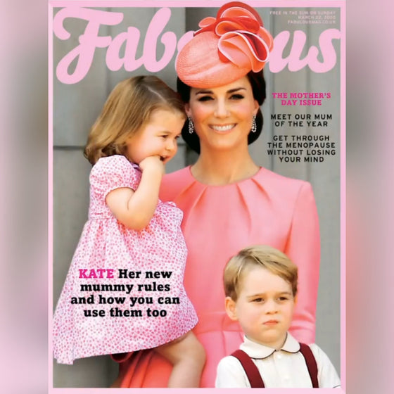 UK Fabulous Magazine March 2020: KATE MIDDLETON PRINCE GEORGE CHARLOTTE