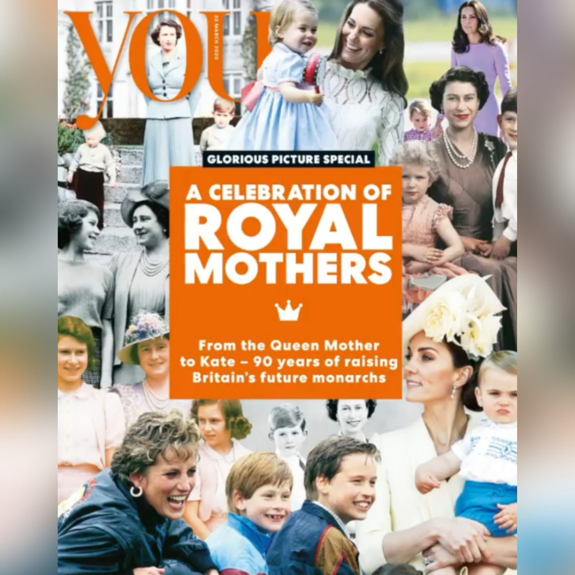 UK You Magazine March 2020: KATE MIDDLETON PRINCESS DIANA GLOSSY PICTURE SPECIAL