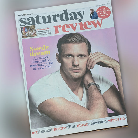 UK Times Review 4th April 2020: Alexander Skarsgard Cover