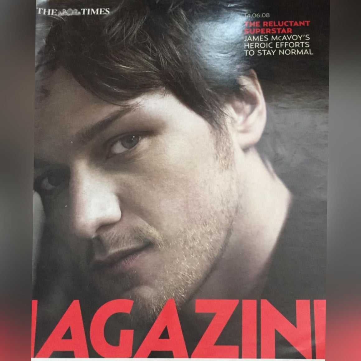 The Times magazine - James McAvoy cover (14 June 2008)