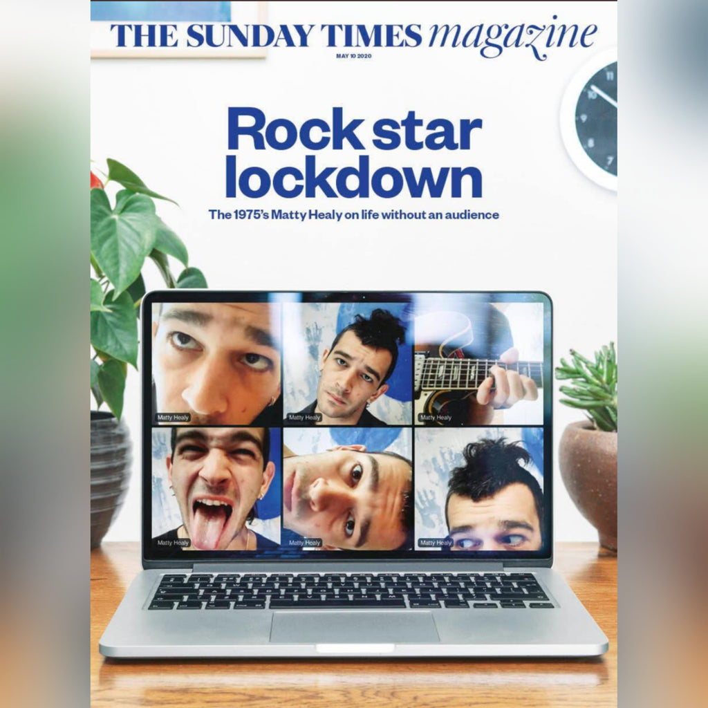 SUNDAY TIMES MAGAZINE - 10th May 2020: Matty Healy - 1975 at home