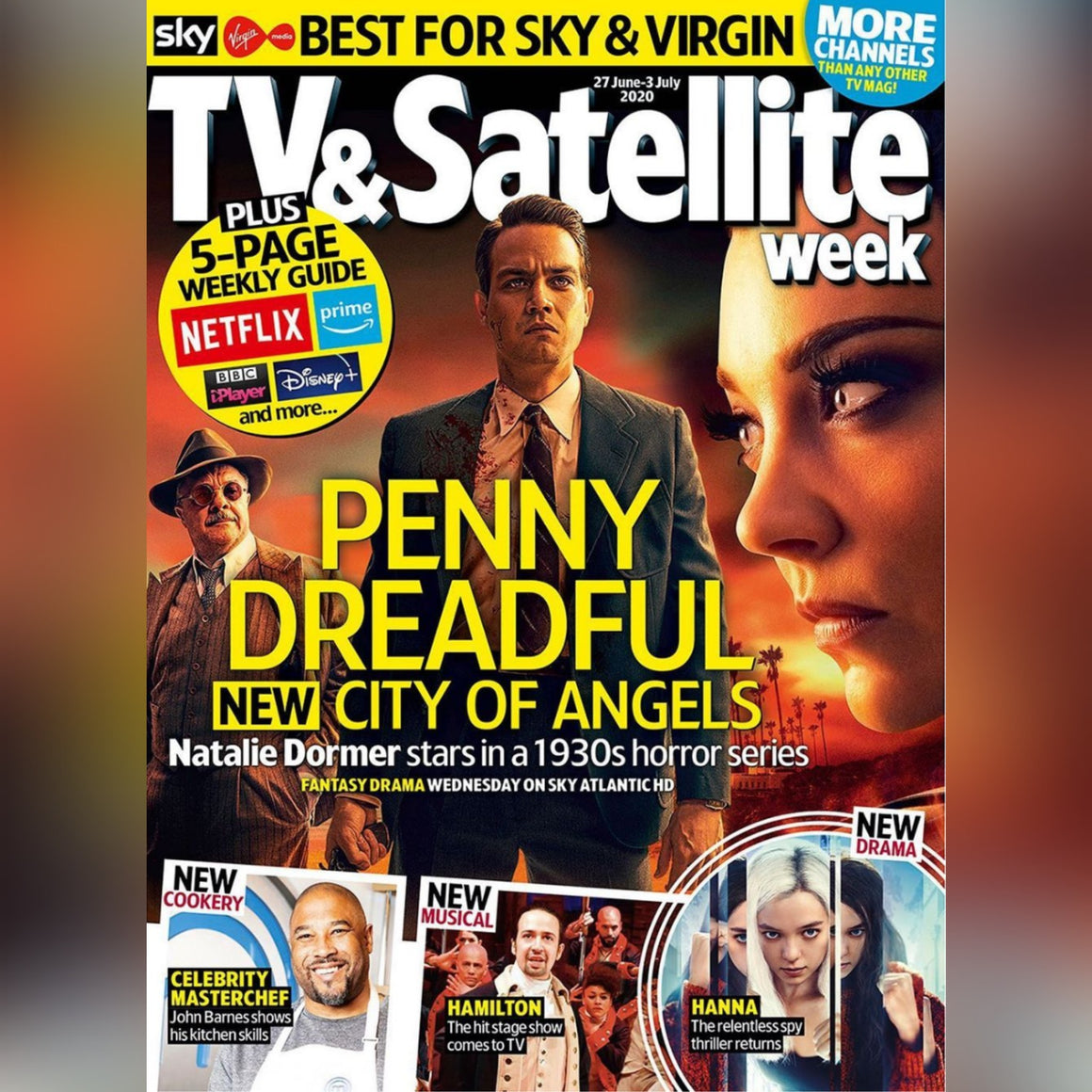 TV & SATELLITE Magazine June 2020: NATALIE DORMER PENNY DREADFUL CITY OF ANGELS