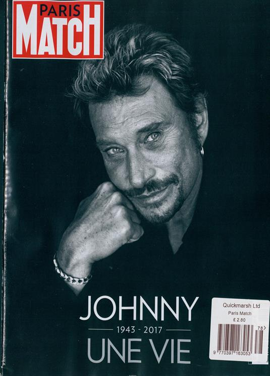 PARIS MATCH SPECIAL HOMMAGE JOHNNY HALLYDAY # NEW BRAND