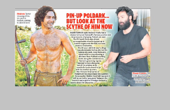 Metro Newspaper June 2019: Aidan Turner Poldark feature