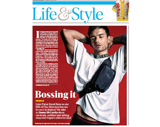 London Evening Standard 2nd July 2019: Liam Payne Exclusive Interview