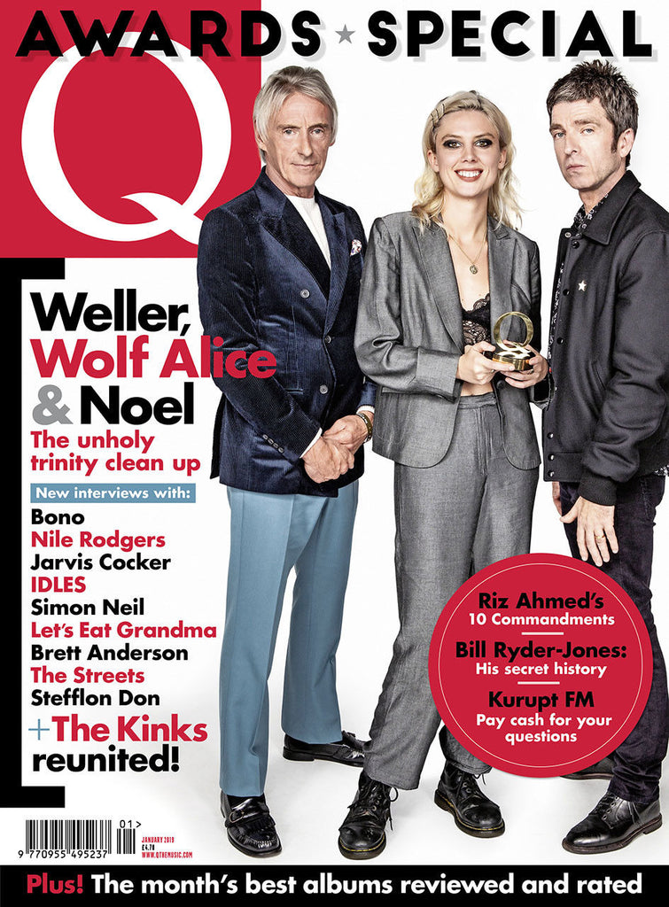 Q MAGAZINE JANUARY 2019 AWARDS SPECIAL PAUL WELLER WOLF ALICE NOEL GALLAGHER THE KINKS