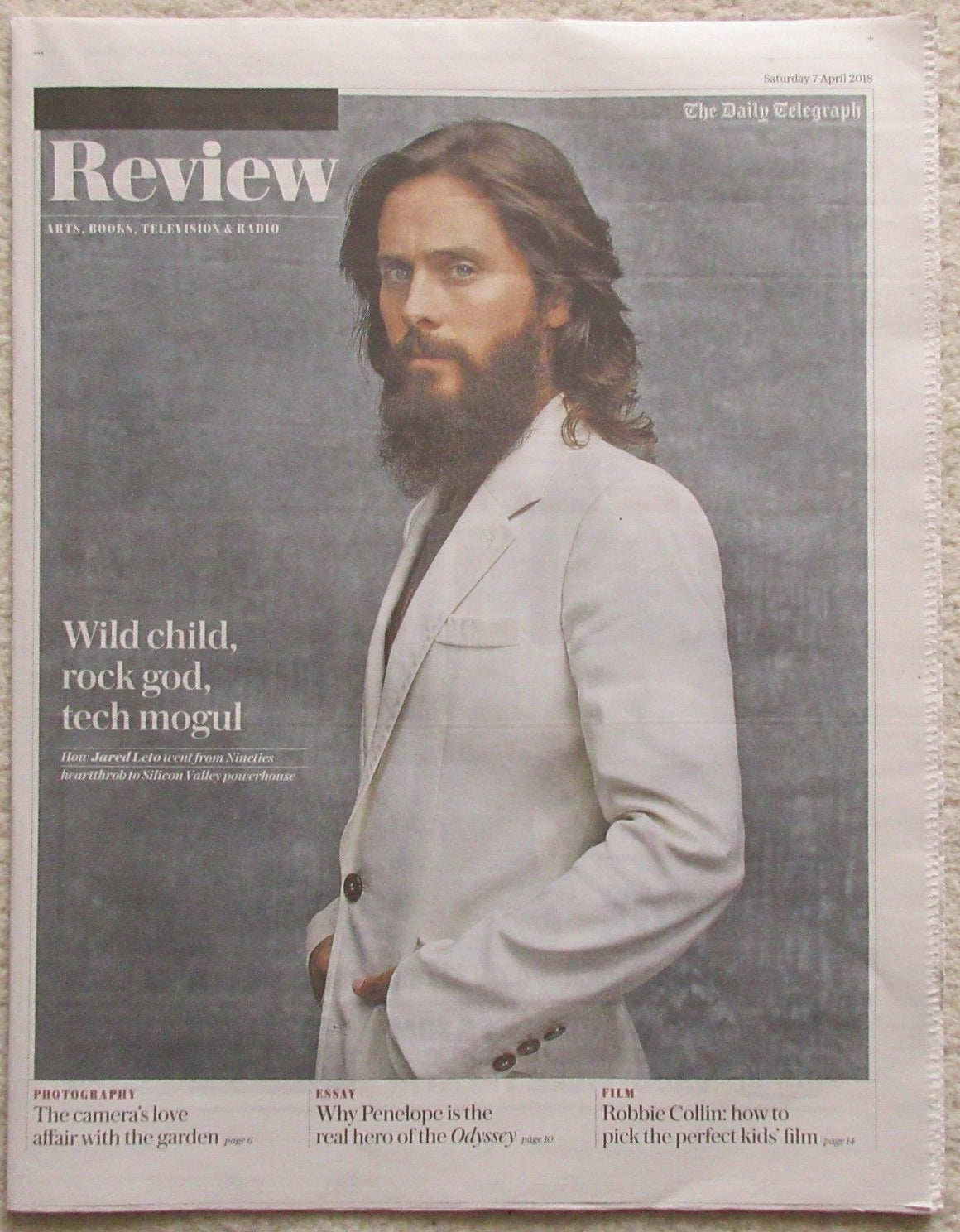 30 Seconds to Mars - Jared Leto - UK Daily Telegraph Review – 7 April 2018