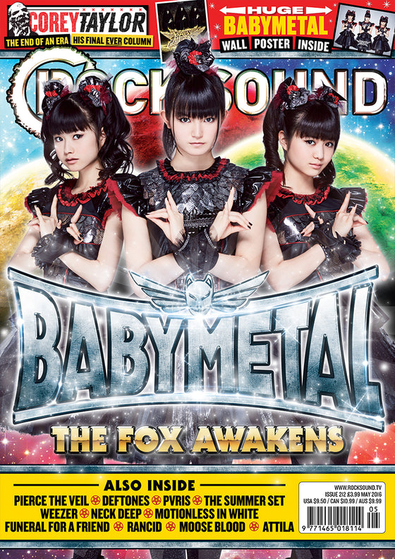 UK ROCK SOUND magazine - May 2016 Babymetal cover & Huge Wall Poster