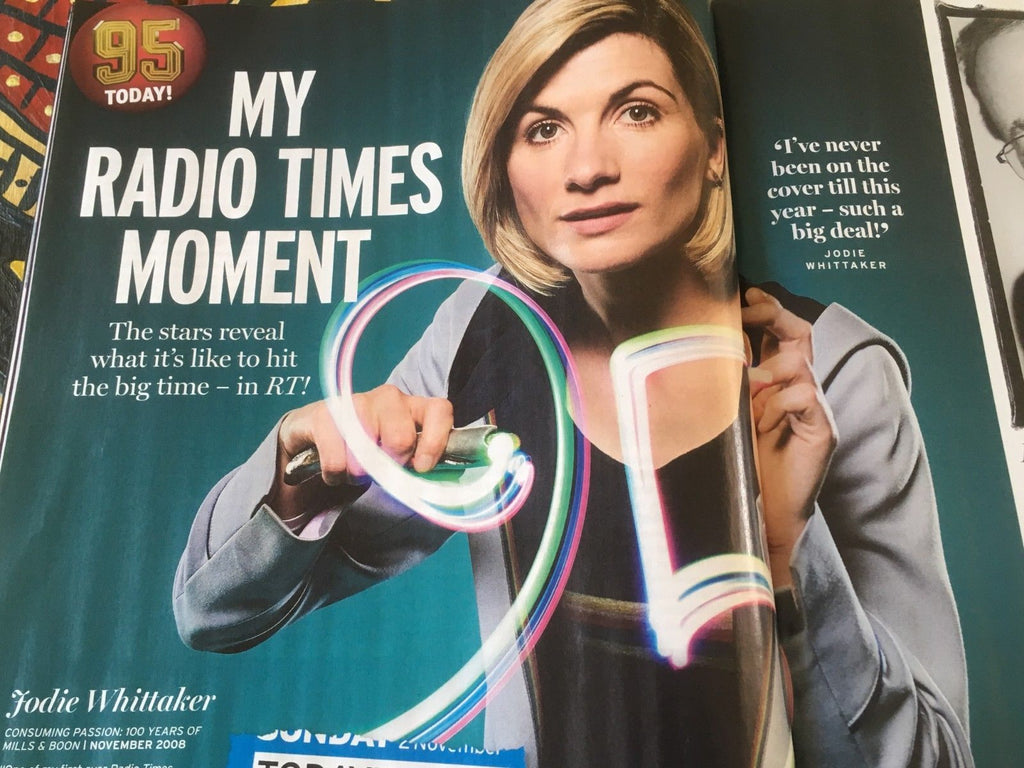UK Radio Times Magazine Sept 2018: Jodie Whittaker Jenna Coleman Woody Harrelson