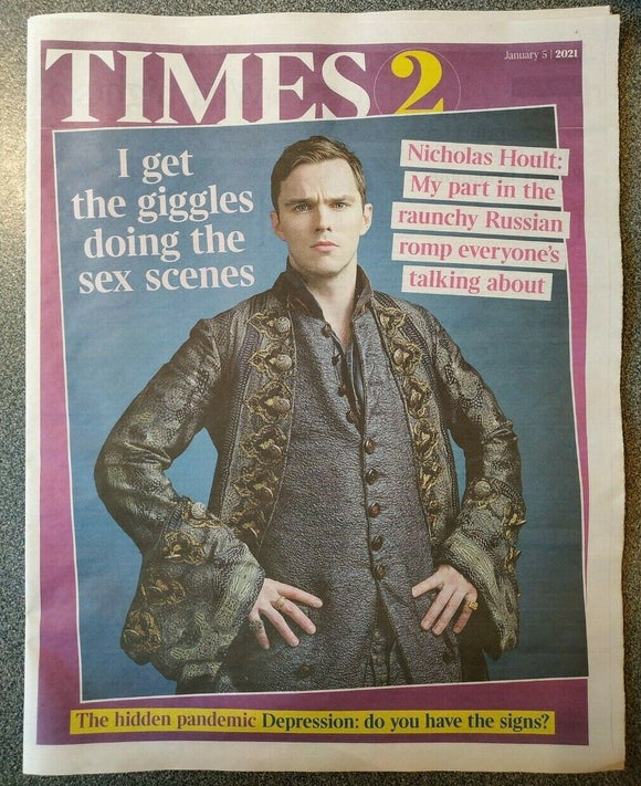 UK Times T2 January 2021: NICHOLAS HOULT COVER & FEATURE