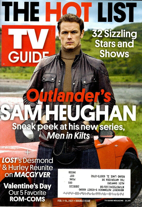 TV Guide February 1-14, 2021 - Double Issue - OUTLANDER'S SAM HEUGHAN